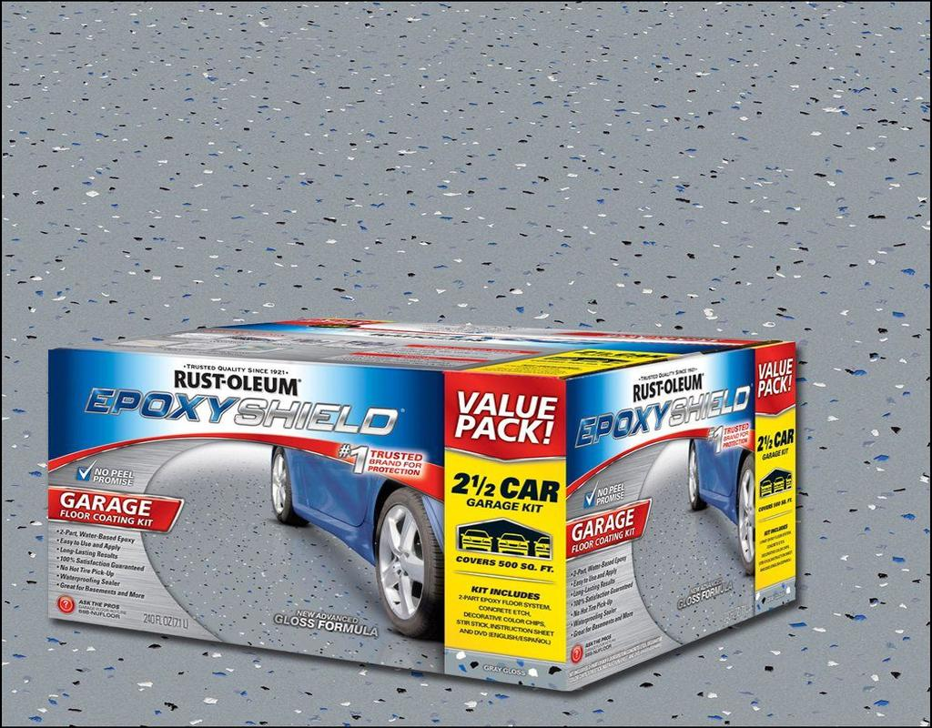 kit gray epoxy p paint rustoleum garage part gal coating epoxyshield gloss rust oleum floor high