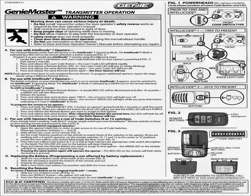 genie-intellicode-garage-door-opener-manual Genie Intellicode Garage Door Opener Manual