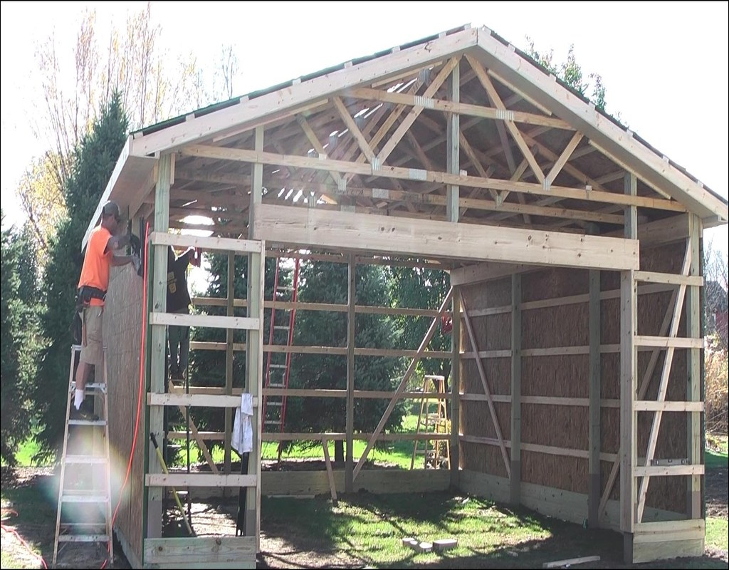 how-to-build-a-pole-barn-garage How To Build A Pole Barn Garage