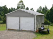 Metal 2 Car Garage