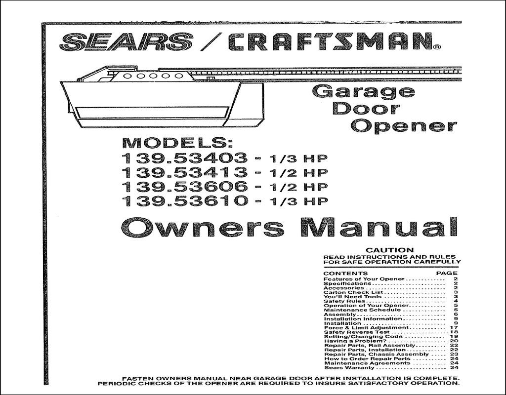 sears-craftsman-garage-door-opener-manual Sears Craftsman Garage Door Opener Manual