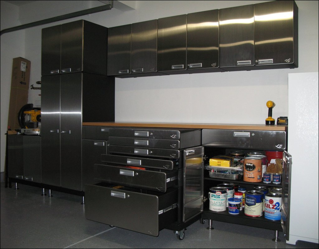 stainless-steel-garage-cabinets Stainless Steel Garage Cabinets