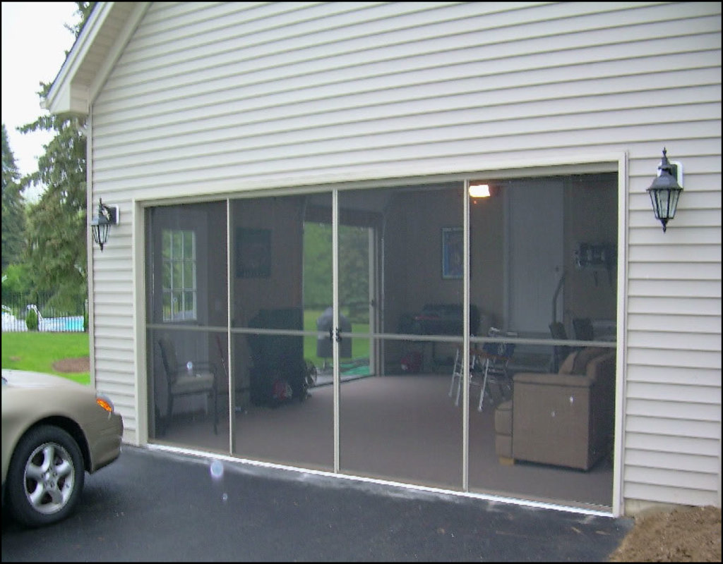 sliding-garage-door-screen Sliding Garage Door Screen