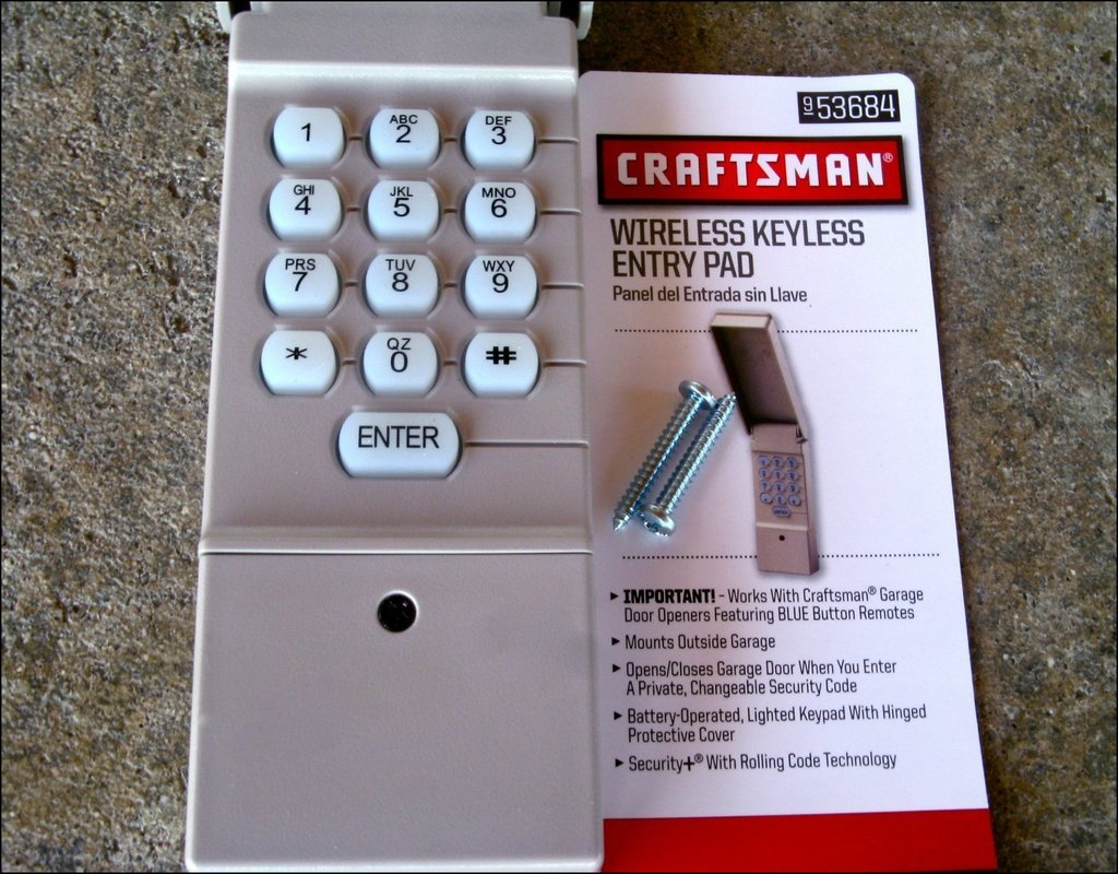 Sears Garage Door Opener Keypad