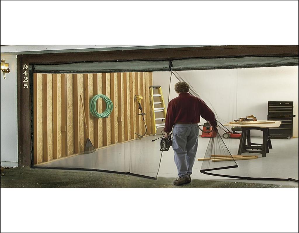 Single Garage Door Screen